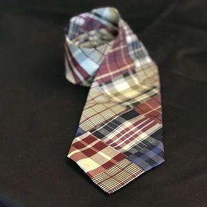 Tommy Hilfiger silk madras patchwork neck tie